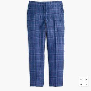 Jcrew plaid linen wool blend slim pants